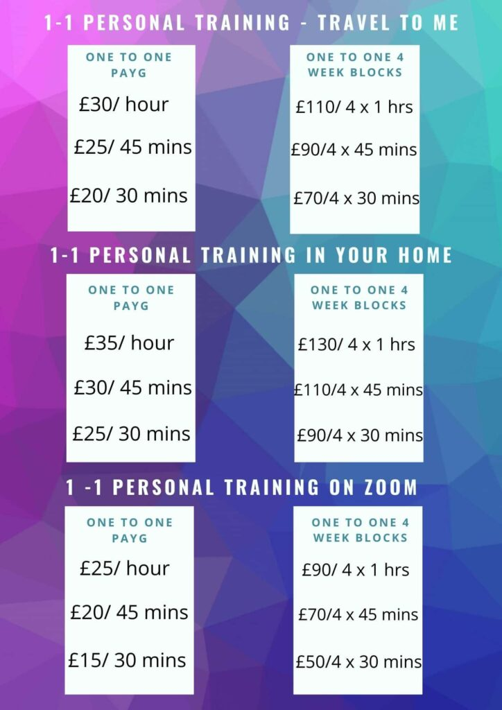AnnaJFitness Personal Trainer Packages